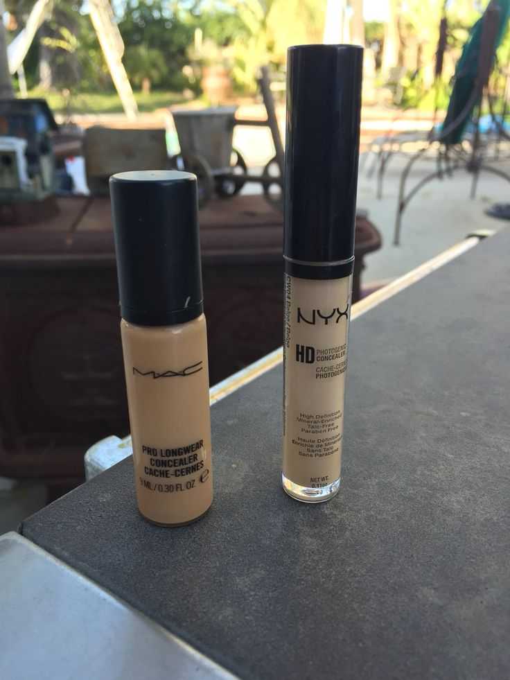 Dupe alert: NYX HD concealer $5 is an amazing dupe for M.A.C pro longwear concealer $18
