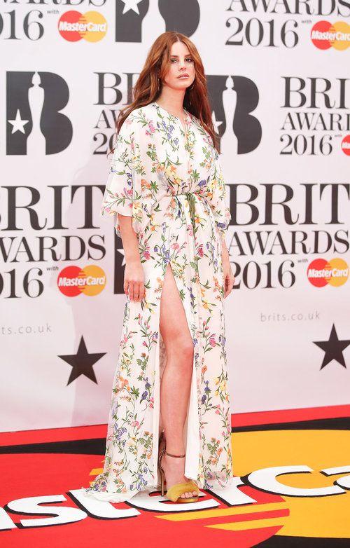 BRITs Awards 2016. Lana Del Rey. Brit Awards red carpet on Feb. 24, 2016 in London. BRITs Awards.