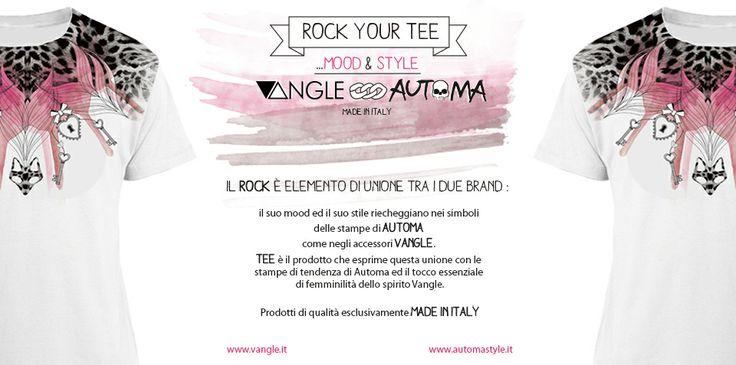 #rock #your #tee ... #maxitee for her by Automa Style e Vangle. #mood e #stile #rock al femminile
