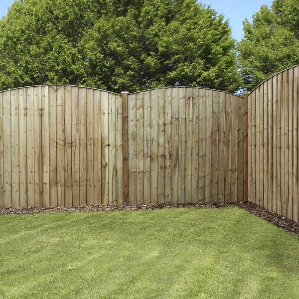 Avon 6' x 6' Pressure Treated Feather Edge Curved Fence Panel - Feather Edge Fence Panels - Fencing