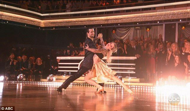 Last dance: Pro dancer Mark Ballas and Lindsey danced for the final time