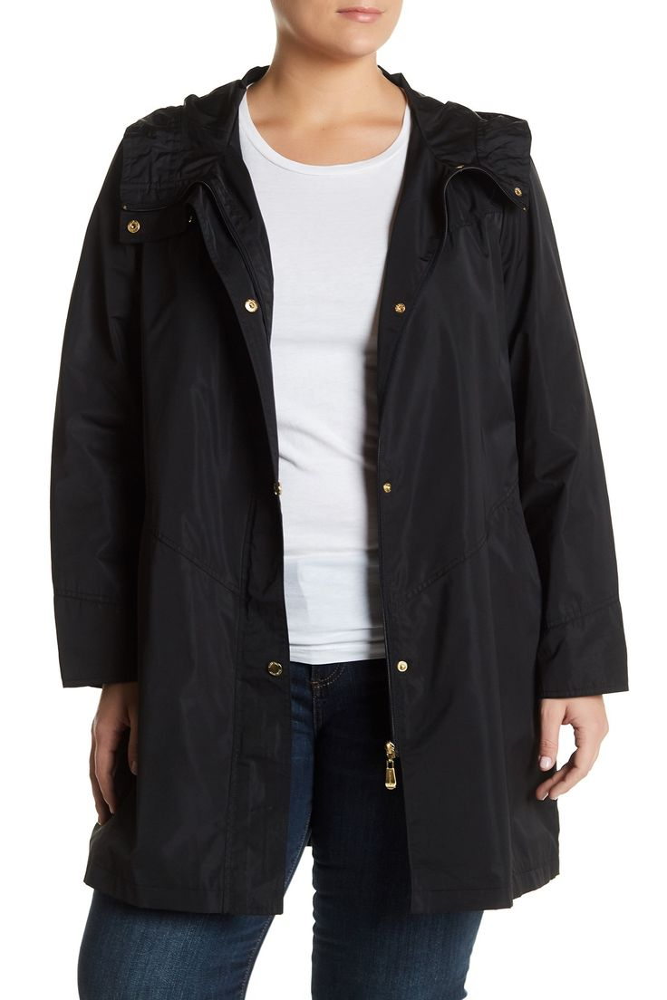 Iridescent Packable Raincoat (Plus Size) by Ellen Tracy on @nordstrom_rack