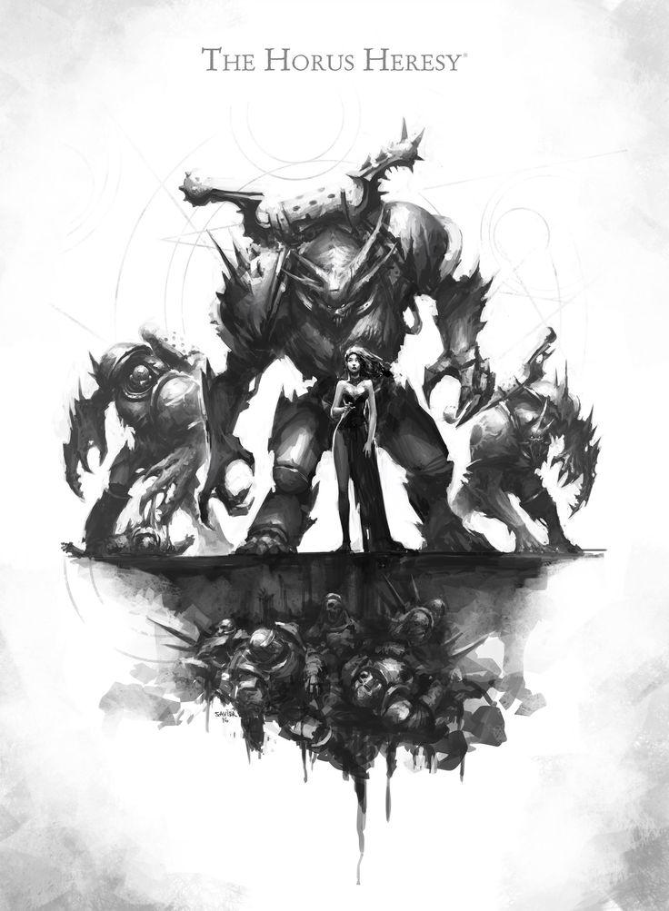 chaos cyrene_valantion gal_vorbak horus_heresy monochrome savier space_marines word_bearers