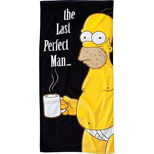 Homer Simpson Badetuch - The Simpsons Duschtuch Badehandtuch The Last Perfect Man Saunatuch on Hipster Shop - Entdecken, teilen und sammeln erstaunliche Produkte mit Hipster-Shop.com