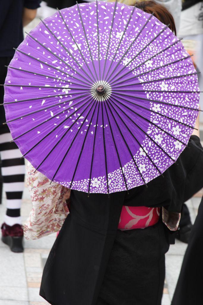 Umbrella. Purple and a spiral. Nice.