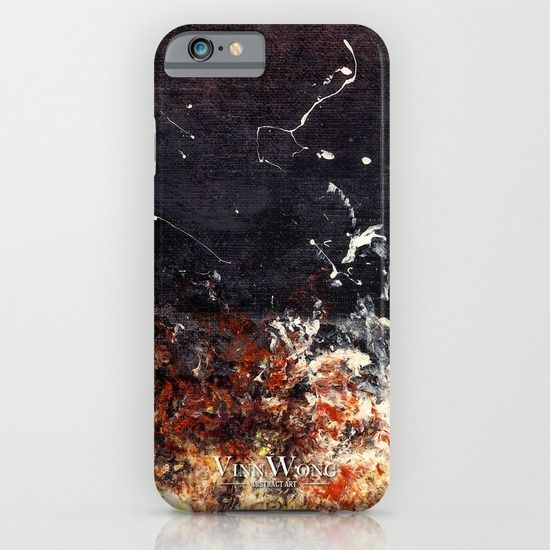 Chic black and orange abstract phone case design for iPhone 6, iPhone 5S/C, iPod Touch, Galaxy s6/s5/s4 | International Shipping | Full collection www.vinnwong.com | Click to Shop or Pin it For Later!