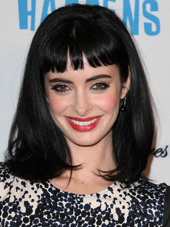 Medium Black Hairstyles With Bangs ~ http://wowhairstyle.com/beautiful-medium-black-hairstyles/medium-black-hairstyles-for-men/