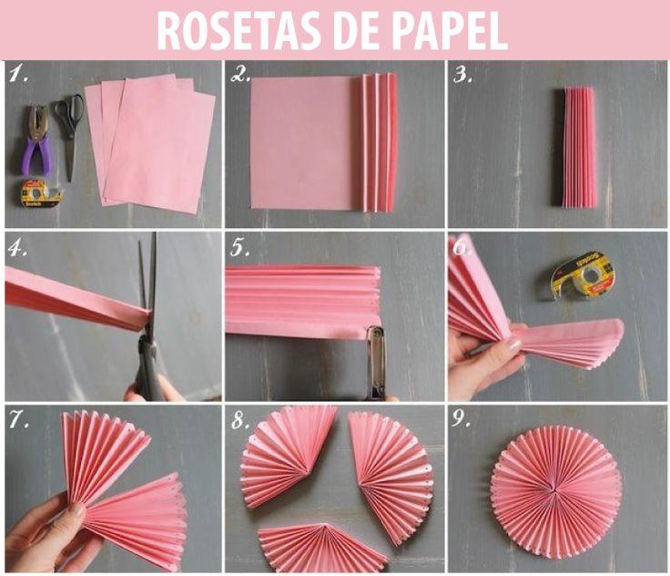 imagenes, fantasia y color: COMO HACER ROSETAS DE PAPEL PARA FIESTAS !!