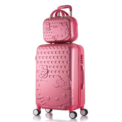 "20""22""24""26""28""in Hello Kitty Luggage Set,Children Women's Lightweight Suitcase,Colorful ABS Travel Box,Rolling Trolley Hardcase"