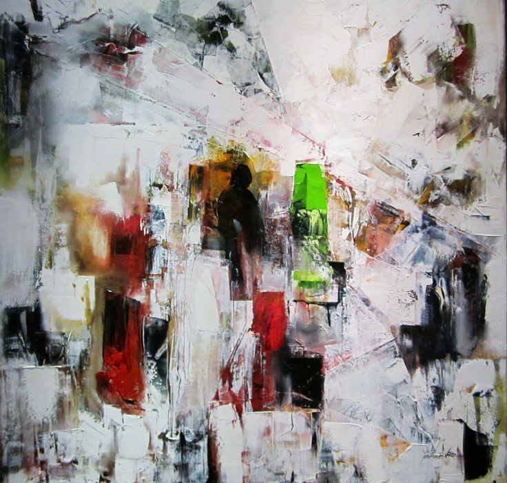 """Joan Lefebvre - """"Origami et fantasie"""" 36"""" x 36"""" For lease or purchase www.artli.ca Lease for $80 per month"""