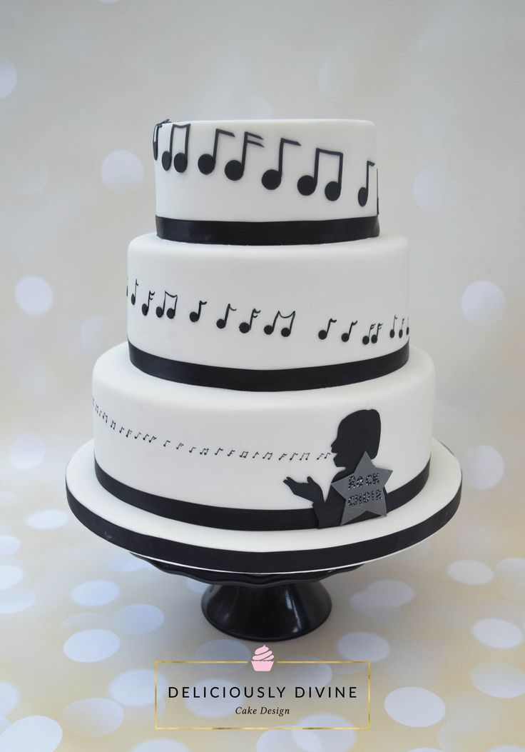 A Music Choir Themed Birthday Cake For A 60th Birthday