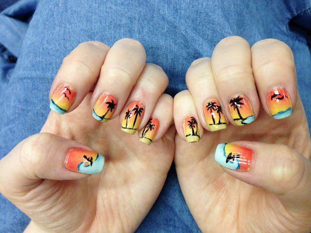 25 unique summer beach nails ideas on pinterest beach nail summer beach nails you wont miss from prettydesigns prinsesfo Image collections
