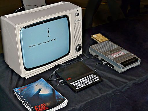 Sinclair ZX81 home computer Setup.