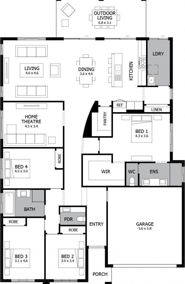 Mojo Homes - Atrium - Floor plan