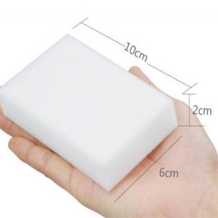 10pc  Melamine Foam Magic Sponge Eraser Multi-functional Home Cleaning Cleaner Pad J10