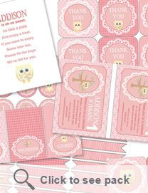 Vintage owl printable pack ONLY $20 www.sweetlittlesoiree.com.au