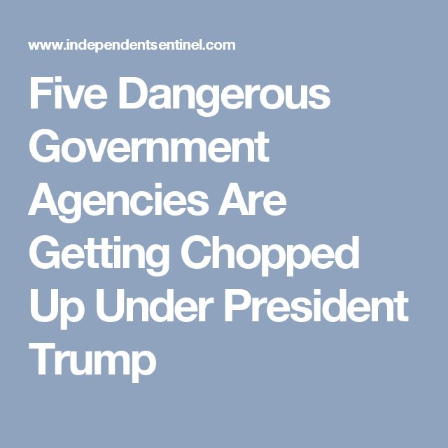 Five Dangerous Government Agencies Are Getting Chopped Up Under President Trump
