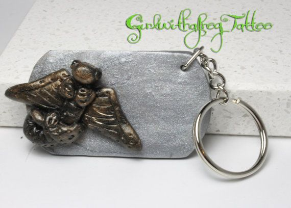 Dragon Keychain Polymer Clay by GirlwithaFrogTattoo on Etsy, $12.00