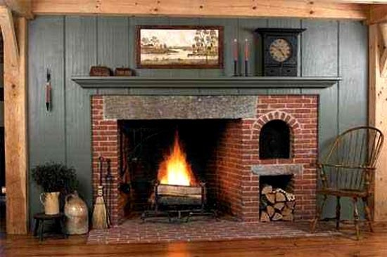 Traditional New England Style Fireplace
