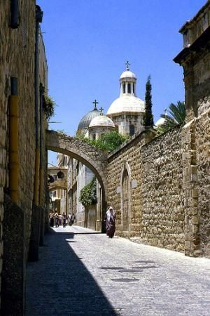 The Holy Land, The Via Dolorosa or Way of the Cross, Jerusalem, Palestine https://www.facebook.com/Nuestro-Dios-Jehov%C3%A1h-443323375834518/timeline/