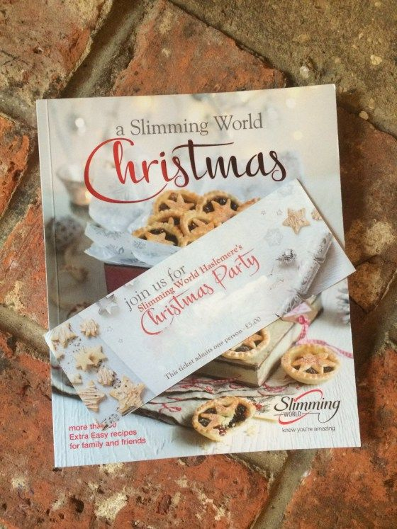 2017 Slimming World Christmas Cook Book And Party Ticket