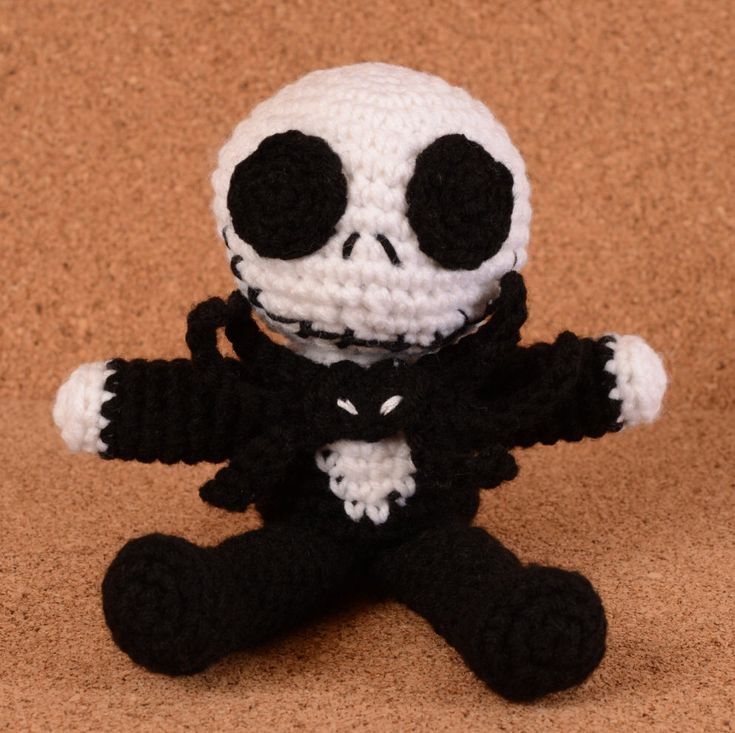 Jack Skellington The Pumpkin King from The Nightmare Before Christmas Crochet Cute Toy Doll by LoveKnotsCrochet on Etsy https://www.etsy.com/listing/254962782/jack-skellington-the-pumpkin-king-from