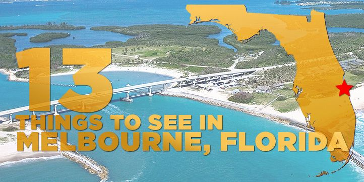 Melbourne has some of the most beautiful landscaping and ocean views in the country. Here are 13 great things to do in the Brevard County town.