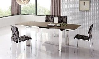 Extendable Dinner Table and Chairs Modern Design - contemporary - dining tables - miami - by Prime Classic Design