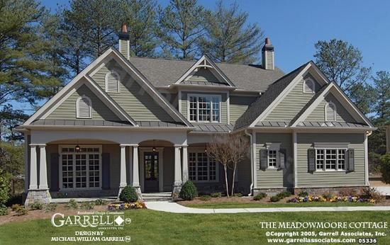 Meadowmoore Cottage House Plan 05336, Front Elevation, Cottage Style House Plans, Southern Style House Plans