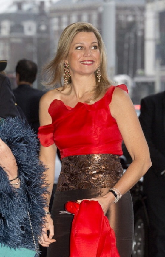 Crown Princess Maxima of Holland attends a concert at the Concertgebouw on 10 April 2013 in Amsterdam, Netherlands.