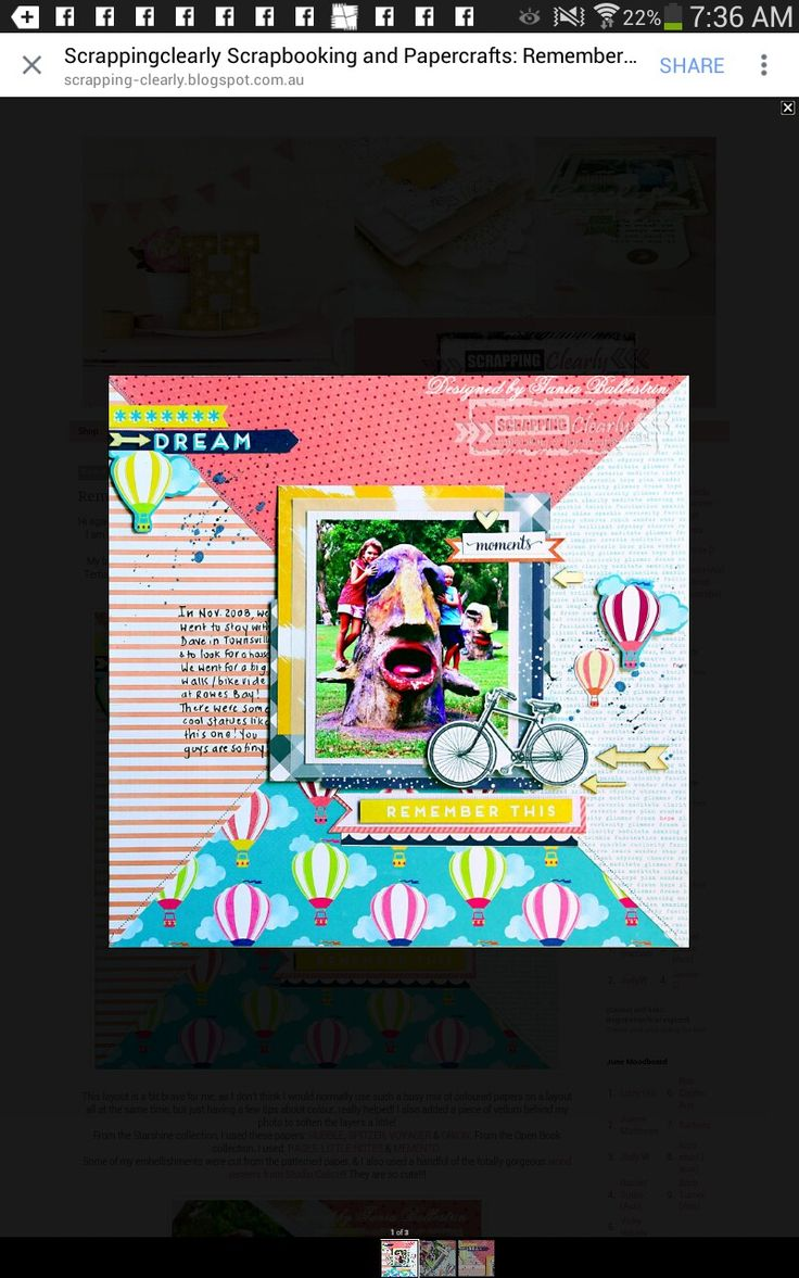 Layout for August DT post at Scrappingclearly