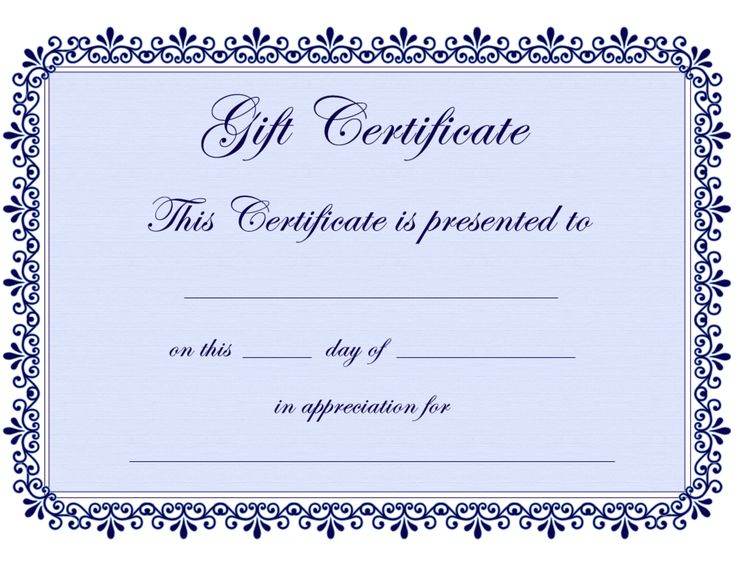 Certificate Templates Gift Certificate Template Free   PDF   Blank Certificate  Templates For Word Free  Certificate Of Appreciation Word Template