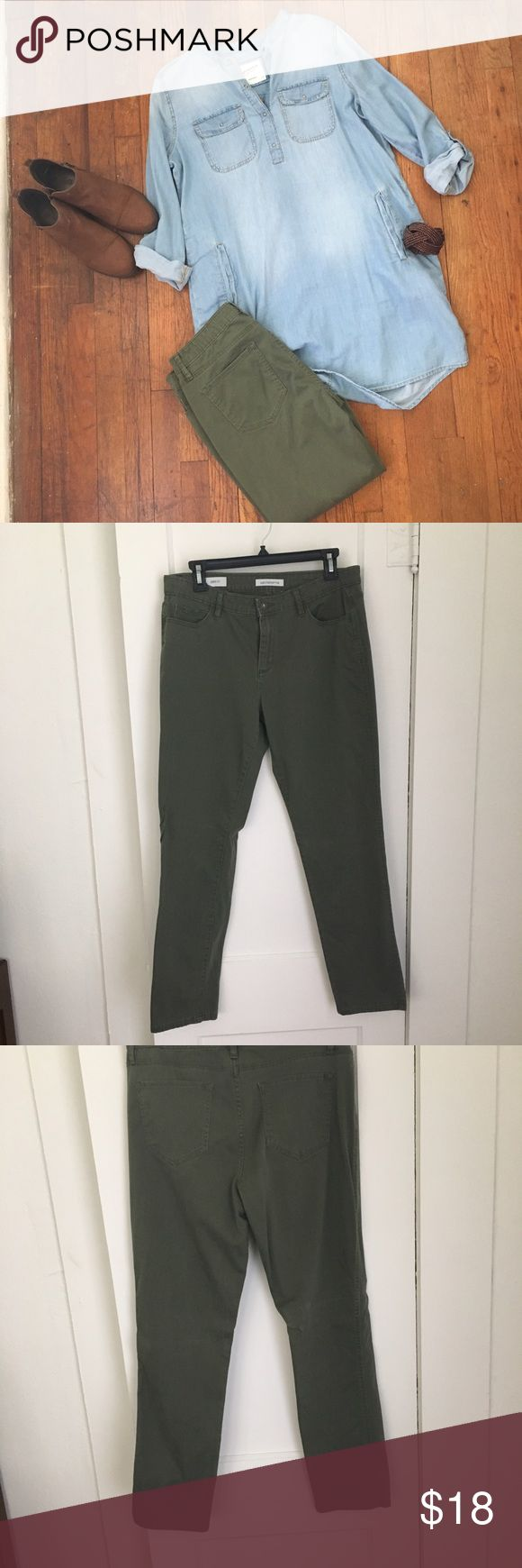 Olive Skinny Jeans Liz  Clairborne City-Fit Skinny Jeans in olive. Only worn once in good condition. Liz Claiborne Jeans Skinny