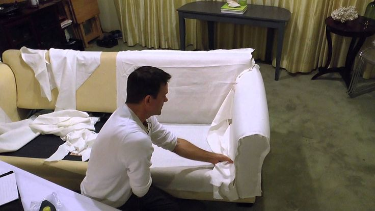 A very easy method to make a slipcover for a sofa bed. In this video Paul shows you how to make a pattern from inexpensive muslin fabric, to make multiple sl...