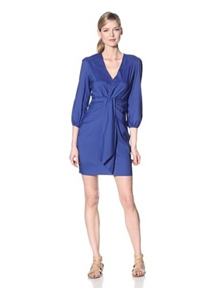 Luna by Josandra Womens Narrow Long sleeve Dress (Cobalt)