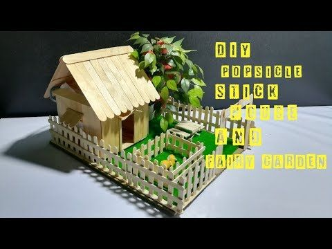 how to make a small popsicle stick house