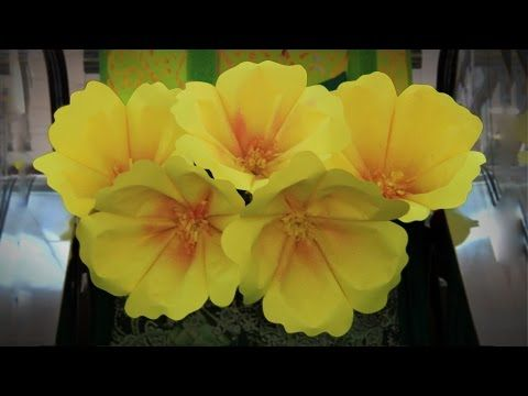 Easy No-glue DIY Large Paper Flower, Single Layer - YouTube