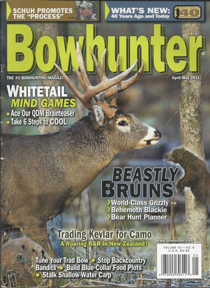 Bowhunter magazine Whitetails Grizzly bears Kevlar Backcountry bandits Food plot