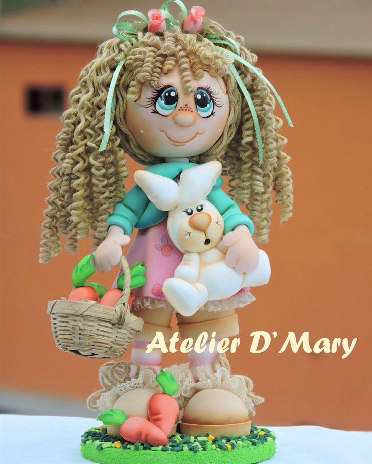 Martina y su conejo tambor...