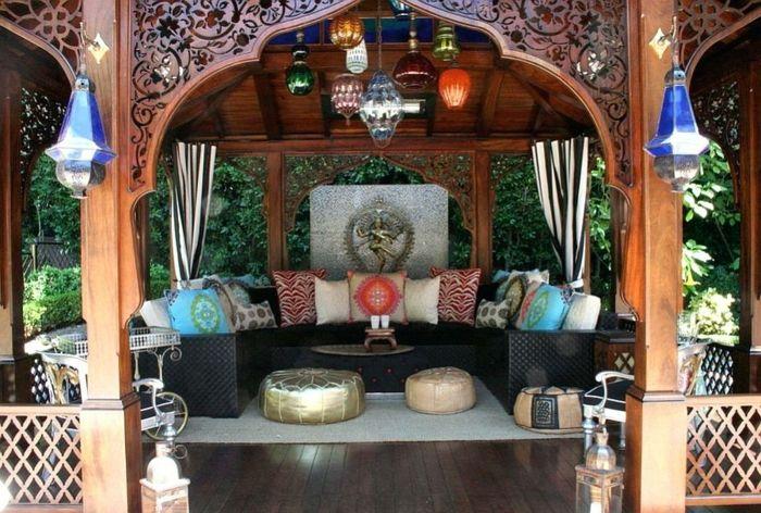 1001 Einrichtungs Und Gestaltungsideen Fur Orientalische Sitzecke Orientalische Sitzecke Marokkanisches Design Marokkanischer Garten
