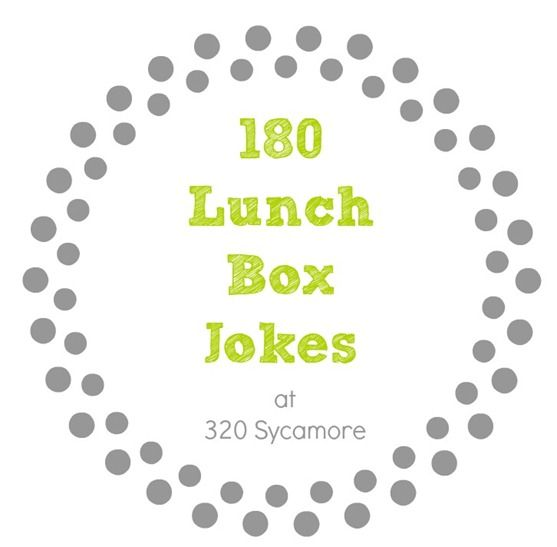 180 lunch box jokes for every school day : free printables!