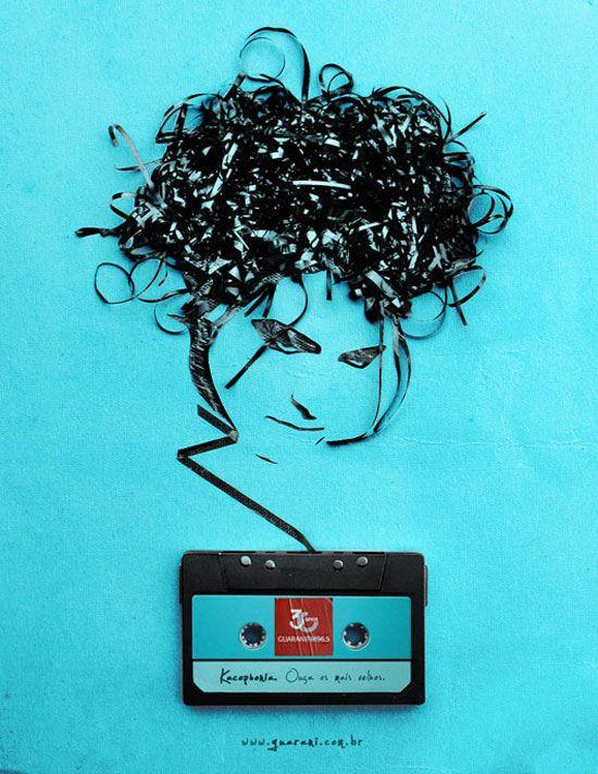Magnetic Tape Campaign | Fubiz™ #ad #print