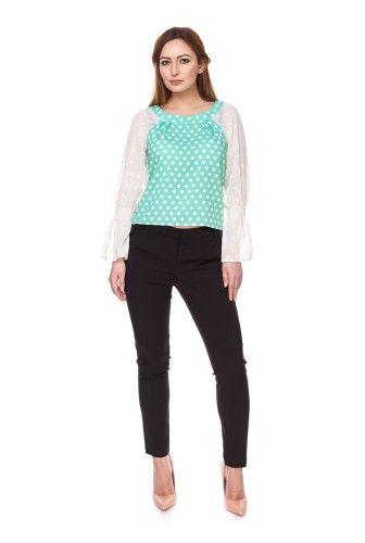 Bluza cu buline din bumbac 6045