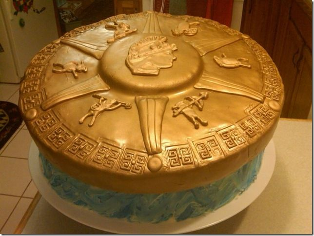Percy Jackson Cake created by Vancee74 of cakecentral
