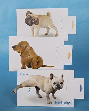 Mechanical Dog Cards via Martha Stewart Card-Making Center