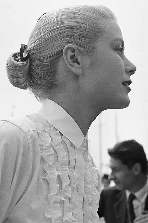Grace Kelly during the Cannes Film Festival, 6th May 1955.
