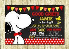 Invitaciones de cumpleaños de Snoopy Dog por LittlePartyDesigns