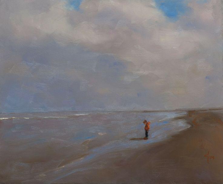Coby Schoonhoven Oranje jas olieverf op paneel 24 x 30 cm 2014