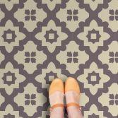 Casablanca Grey Vinyl Flooring , Floor Tiles from zazous   Made By Zazous   £19.99   BOUF