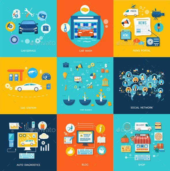 Car Service Car Wash Social Media Online Shop - Concepts Business